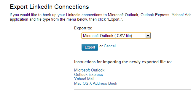 How to export LinkedIn contacts into Excel?