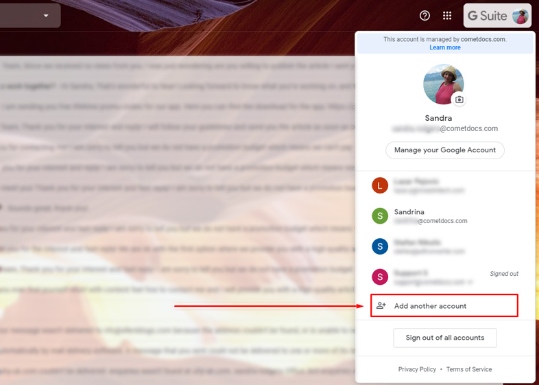 add another Gmail account