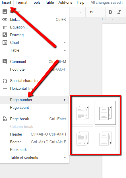 How to number pages in google docs toneelgroepblik Images