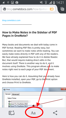 How To Convert A Webpage PDF Format On Your Android Phone
