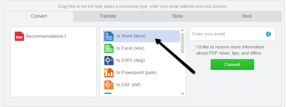 Convert PDF to Word Online Free with Cometdocs