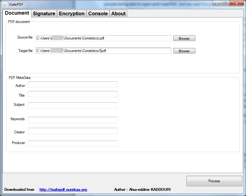 encrypt pdf document.