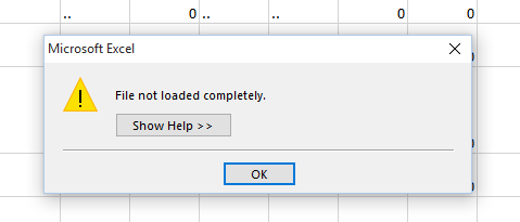 file not loaded completely