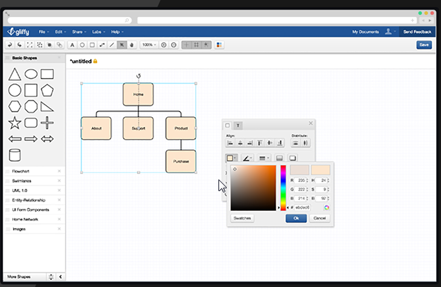 8 excellent free tools for creating diagrams gliffy is another great solution for people who would rather work directly from within their web browsers there is nothing to download and install ccuart Images