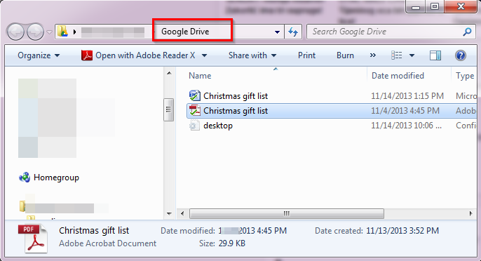 google drive converted file