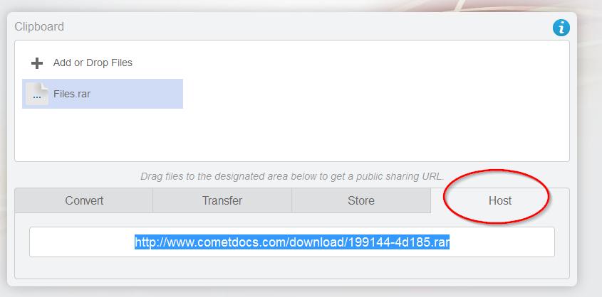host tab cometdocs