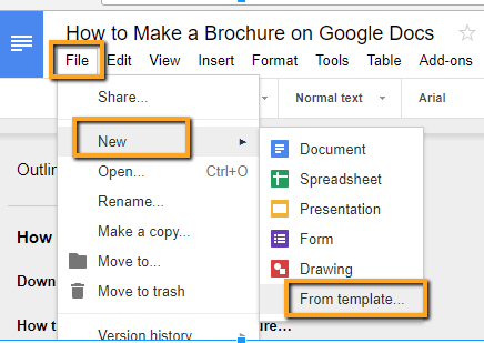 How To Make A Brochure On Google Docs In Two Ways - Google documents download