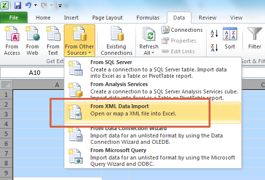 How to Convert XML to Excel?