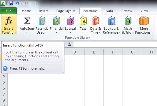 Working with Excel Formulas and Functions