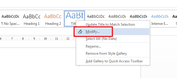 how to change style set in word 2013