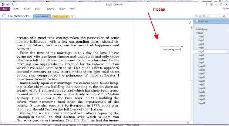 How to Make Notes in the Sidebar of PDF Pages in OneNote?