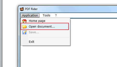 open document in pdf printer
