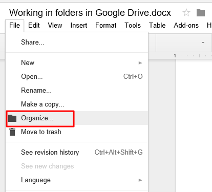 how to make folders in google docs