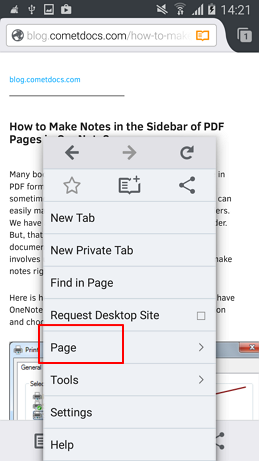 How to make pdf file from web page