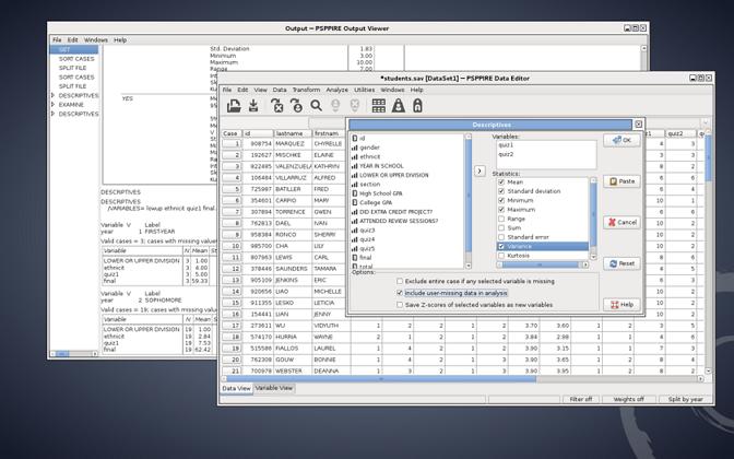 pspp software statistics