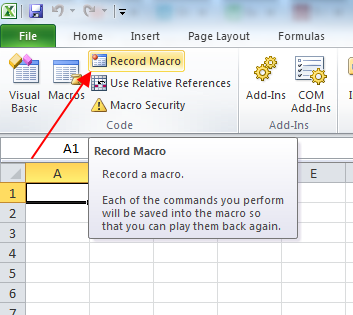 record a macro