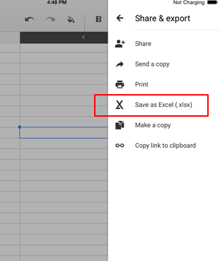 save google sheets as excel