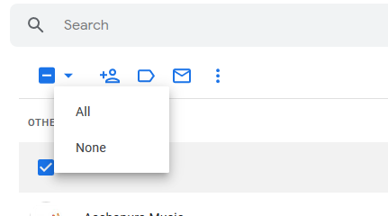 select all contacts in gmail