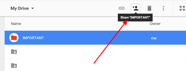 how to create a shared folder in google docs