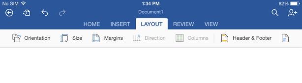 word ipad settings