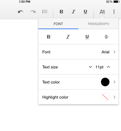 word processing ipad